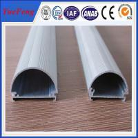 Quality Well aluminium alloy 6063 t5 extrusion profile supplier, half round aluminium led tube for sale