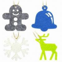 Quality Lasercut 3mm FELT Christmas Pendants, Comes in 5 x 5cm Size for sale