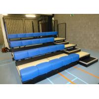 Portable Telescopic Seating Systems With Colorful Bench Manual Operation