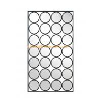 Quality Modern design rectangle shape mixed circle decorated metal Iron framed mirror for sale