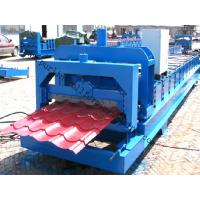 Quality Color Steel Glazed Tile Roll Forming Machine with PLC Computer Control to Europe for sale