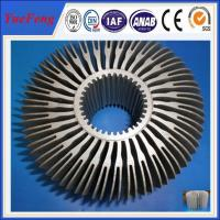 Quality Hot! supply led aluminum circular extrusion heat sink, OEM led aluminum profile factory for sale