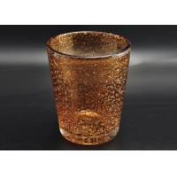 Quality 316ml Hand Made Color Sprayed Glass Votive Candle Holder with Bubble Effect for sale