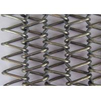 Quality Stainless Steel Flat Wire Mesh Spiral Woven Decorative Mesh For Architecture for sale