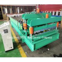 Quality PLC Control 380V Roof Tile Roll Forming Machine 380v/50HZ PPGI/GI Material for sale