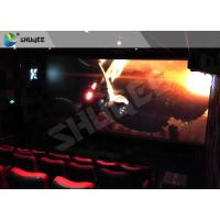 Quality Children Amusement 4D Cinema Movie Theater With Electric System Motion Seat CE for sale