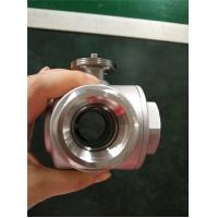 Quick-Open Electric Ball Valve , Motorized 3 Way Stainless Steel Ball Valve for sale