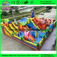 Buy cheap Hot Sale Cartoon inflatable big fun city for sale, commercial Mega inflatable from wholesalers