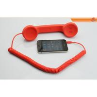 Quality Portable Red Anti Radiation Mobile Phones Handsets, Retro Handset For Iphone for sale