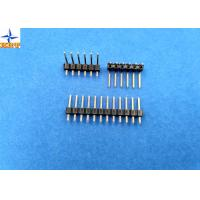 Quality 2.54mm pitch single row pin header vertical male connector for female crimp connectors for sale