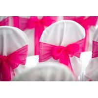 Quality chair cover with ribbon for sale