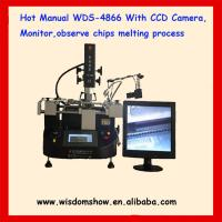 Quality low cost hot air infrared bga rework station WDS-4866 with camera monitor for sale