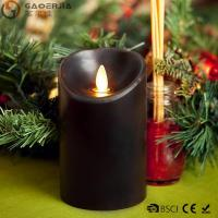 Quality Multi - Colored Led Black Pillar Candles with Real Flame for Home Decor for sale