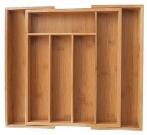 Classics Bamboo Kitchen Supplies , Bamboo Flatware Organizer No Petrochemicals
