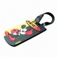 Quality Promotional Luggage Tags, Made of Silicone, Eco-friendly, Come in Various Shapes/Sizes/Logos/Colors for sale