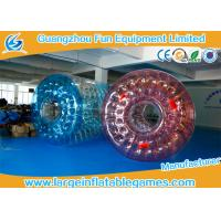 Quality 0.7mm TPU  Inflatable Water Roller / Water Walking Roller Blue And Red Color for sale