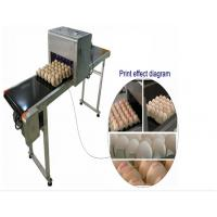 Quality Automatic Single Row Egg Printing Machine With Small Solvent Printer for sale