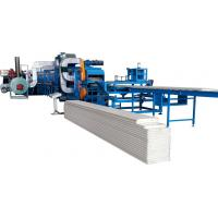 China 0.3-0.8mm 3- 6m/min Speed PU Sandwich Panel Production Line With Auto Stacker on sale