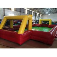 Quality Indoor small Inflatable Football Pitch red Inflatable football field for Kindergarten Baby for sale