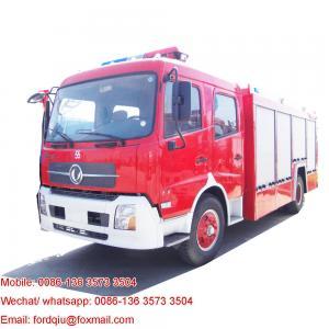 China Dongfeng kinrun pumps for fire truck foam fire truck foam tenders cummins engine 190hp fire pumper on sale