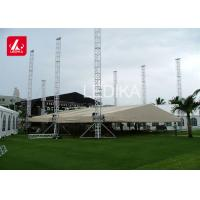 China Strong Event Tent Portable Stage Truss With Arch Roof Truss Design on sale