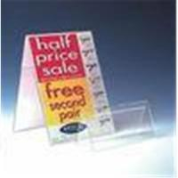 Quality Double Sided Acrylic Rack Card Holder Advertising Sign Holder for sale