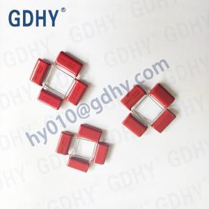 Quality Red 0.33UF 334J 630V CBB Polypropylene Film Capacitor P20 Self Healing for sale