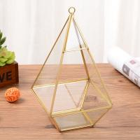 Clear Vase Hanging Geometric Glass Terrarium for Air Plant Flowerpot for sale