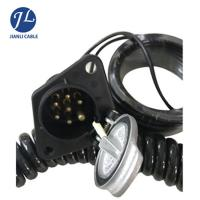 Quality Customized High End 7 Pin Rear View Camera Trailer Cable Connector for sale