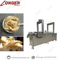 Quality Continuous Pork Skin Frying Machine|Automatic Pork Skin Fryer|Industrial Pork Skin Frying Equipment|Continuous Fryer for sale