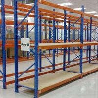 China Steel Structure Medium Duty Shelving , Custom 4 Layer Teardrop Pallet Rack on sale