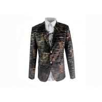 Quality Leopard Patterned Suit Jacket Single Breasted Fit European / American Men for sale