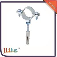 Quality Cast Iron Pipe Clamps , Wall Mount Pipe Bracket With Nut Tapping Screw Nylon Plug for sale