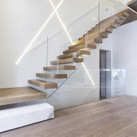 Quality home used diy wooden floating staircase fancy timber stairs for sale