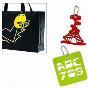Quality Laser-cut Felt Free-form Bag Pendant for sale