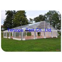 China Giant Wedding Glass Tent Movable  Aluminium Frame Clear Canopy Tent 20 X 30 M for sale