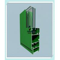 Quality Anodized / Powder Coated Window Aluminum Profile Green Color ISO Certification for sale