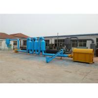 200 - 300 kg / h Drum Wood Sawdust Dryer Machine With Short Drying Time for sale