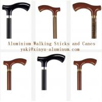 Quality Wooden Grain Transfer Printing Aluminium Round Tube for Walking Sticks / Canes for sale