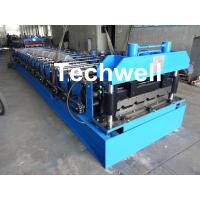 Quality 18 Forming Stations Roof Roll Forming Machine With Manual Or Hydraulic Type Decoiler / Uncoiler for sale