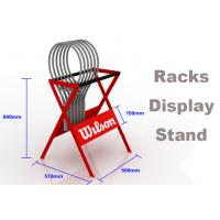 Buy cheap ​Eco Friendly Sports Display Rack Tennis Racket Display Rack Red / Blue / Gray Color from wholesalers