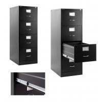 Buy Black Metal Lateral File Cabinet 4 Drawer For Office , Home, Warehouse at wholesale prices