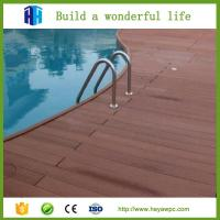 Quality Water resistance wpc flooring ce certificate wood plastic composite for sale