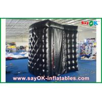 Quality PVC Coating Black Inflatable Photo Booth Rental Waterproof Strong Picture Box for sale