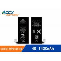 Quality ACCX brand new high quality li-polymer internal mobile phone battery for IPhone 4G with high capacity of 1430mAh 3.7V for sale
