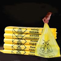 Quality Hospital Disposable Biohazard Waste Bags Ldpe / Hdpe Yellow Medical Waste Bags for sale