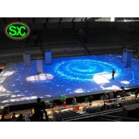 Quality outdoor p10 Full Color Diy Light Up Dance Floor With Skidproof Floor Mask , Size Customized for sale