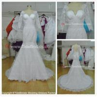 Quality NEW!!! Middle sleeves Mermaid wedding dress Lace skirt Bridal gown #AS1580 for sale
