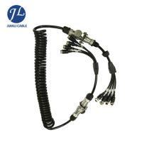 Quality 7 Pin Male Connect Four Female Aviation Cable For Split Screen Reversing Camera System for sale