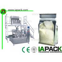 Quality Rotary Preformed Bag Packaging Machine For Rice Premade Pouch Packing Machine for sale